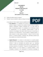 MB0034 Research Methedology - SET 1