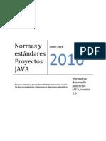 Normas y estándares Proyectos JAVA