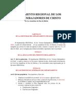 REGLAMENTO REGIONAL DE LOS  JEDC PROPUESTA