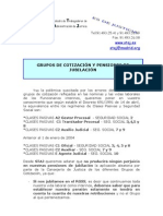 NOTA STAJ GRUPOS DE COTIZACION Y PENSIONES DE JUBILACION MARZO 2011