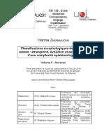 Hzhurauliova Classifications Morphologiques Des Verbes Russes _閙ergence, 関oluti