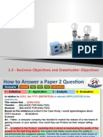 1.5 Business Objectives and Stakeholder Objectives