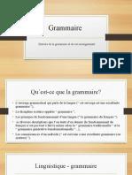 Histoire de la grammaire et de son enseignementn