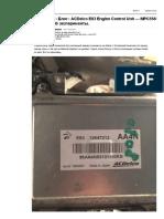 ACDelco E83 Engine Control Unit — MPC5565 Nexus JTAG эксперименты. — DRIVE2