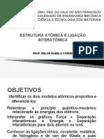 02 - Estrutura Atômica e Ligação Interatômica