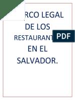 Marco Legal de Los Restaurantes en El Salvador (1)