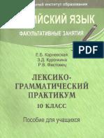 Лексико-грамматический практикум 11 класс