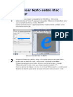 Cómo Crear Texto Estilo Mac Con GIMP