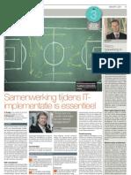 Artikel Frank Willems FD Maart 2011 Implementatie ICT is een veranderopgave