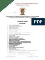 Indice de Liquidacion de Obra Chinchinvara