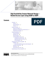 High Availability Campus Network Design - Routed Access Layer using EIGRP or OSPF