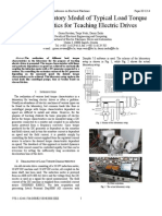 Physical Laboratory Model of Typical Load Torque Characteristics for Teaching Electric Drives