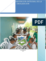 PROYECTO PREVENCION INTEGRAL DE LA DROGADICION  2021