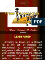 Types and Approaches to Leadership