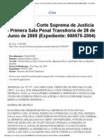 Sentencia de Corte Suprema de Justicia - Primera Sala Penal Transitoria de 28 de Junio de 2005 (Expediente_ 000575-2004) - vLex Global
