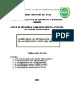 TRABAJO APLICATIVO SOBRE LOS ARTICULOS 190 191 Y 197 DE LA CONSTITUCION POLITICA DEL PERU