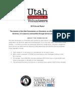 Utah Commission on Volunteers, 2010 Annual Report