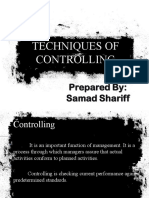 Techniques of Controlling