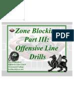 Zone Blocking Part III - Drills