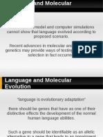 Language and Molecular Evolution