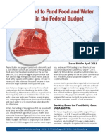 Why We Need to Fund Food and Water Protections in the Federal Budget