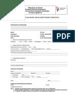 Formul. Notificação Farmacovigilância
