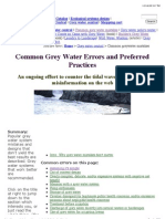 Common Greywater Mistakes and Preferred Practices