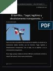 El barrilito…Legal, legitimo y absolutamente transparente