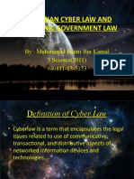 MALAYSIAN CYBER LAW AND ELECTRONIC GOVERNMENT LAW