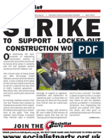 Socialist Party Construction Bulletin www.socialistparty.org.uk