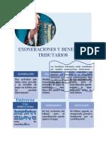 EXONERACIONES Y BENEFICIOS TRIBUTARIOS