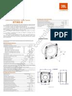 JBL ST 302X 28003031 Manual Portuguese