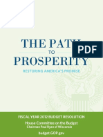 Budget Proposal Path To Prosperity 2012