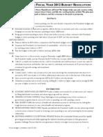 Budget 2012 Key Facts Summary