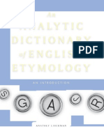 An Analytic Dictionary of English Etymology
