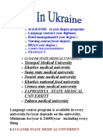 STUDY IN UKRAINE MEDICAL 2010