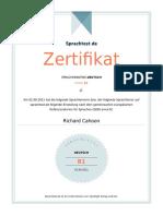 Sprachtest Certificate Deutsch Richard Cahoon(1)