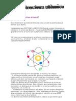 Qué es la estructura atómica