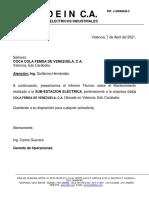 MODELO INFORME MTTO S-E ELECTRICA PLANTA VALENCIA