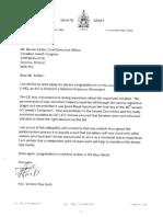 Letter From Senator Mac Harb