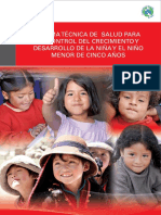 Norma Tecnica d Crecimiento y Desarrollo Del Nino Menor de Cinco Anos