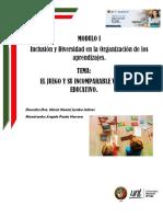 EL JUEGO Y SU INCOMPARABLE VALOR EDUCATIVO