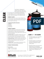 Cleanshot - Air Compressed Environmentally Friendly Chemical Sprayer, No CFC's and Re-usable to save on Waste