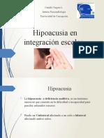 Hipoacusia en integración escolar