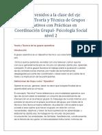3 y 4 Teoría y Técnica de los grupos operativos