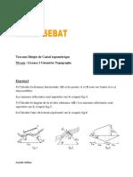 Travaux Dirigés de Calcul topométrique L3 GTP