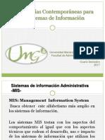 3. Metodologías contemporaneas de  los sistemas de información