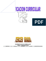 Diversificacion Curricular Tercer Grado