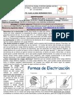 8° Guía 8 La electrización