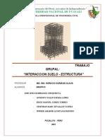INTERACCION SUELO ESTRUCTURA ( MARCO TEORICO,RECOMENDACIONES, CONCLUSIONES Y BIBLIOGRAFIA)